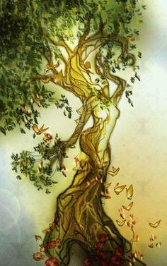 Dryad reborn, Amber naralim Ross, SciFi Fantasy Art