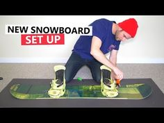 How to Set Up your Snowboard + First Trick to Learn - YouTube