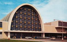 1960s postcard of Moisant Airport (now Louis Armstrong New Orleans International). Gothic Architecture, School Architecture, Architecture Design, Dome Structure, Building Structure, Banks Building, Building Design, Moise, New Orleans