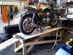 DIY motorcycle repair stand