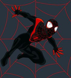 Ultimate Spiderman, Miles Morales Disney Marvel, Marvel Art, Marvel Heroes, Ultimate Spider Man, Black Spiderman, Spiderman Art, Miles Morales Spiderman, Spider Carnage, Dc Comics