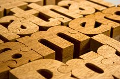 Wooden Typographic Puzzles