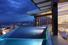 Rooftop Pool and Lounge at Le Gray Hotel in Beirut, Lebanon