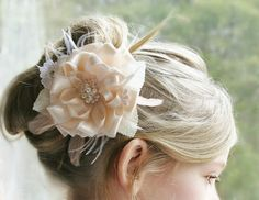 Bridal Headpiece Blush Bridal Headpiece Crystal by FancieStrands
