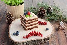 Dvojčokoládové kocky - Mňamky-Recepty.sk Kolaci I Torte, Christmas And New Year, Gingerbread, Panna Cotta, Dessert Recipes, Cake, Ethnic Recipes, Food, Opera
