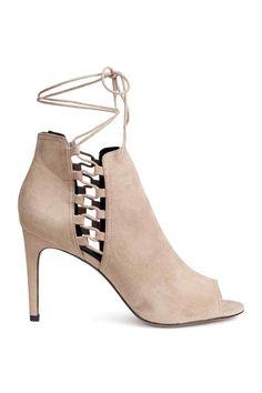 Peep-toe ankle boots - Light mole - Ladies   H&M 1