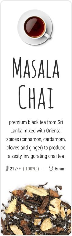 Farm-fresh Masala-Chai tea. Bold, beautiful, delicious!