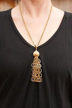 Vintage Tassel necklace by TwiceBakedVintage on Etsy, $12.00