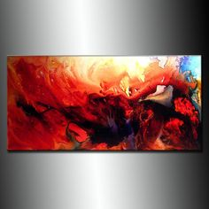 Contemporary Abstract Painting Oversize by newwaveartgallery, $700.00