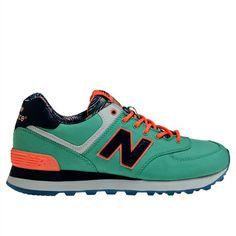 91e8e776ec74 New Balance Sea Green Tangerine Navy New Balance 574 Island Pack 2014 Shoes  For Women