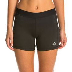 Adidas Womens Techfit 5 Boy Short ($24) ❤ liked on Polyvore featuring activewear, activewear shorts, adidas sportswear, adidas activewear and adidas