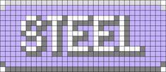 Pokemon Steel Type Perler Bead Pattern / Bead Sprite