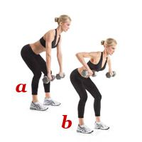 dumbbell row.  Exercises to get rid of arm pit fat