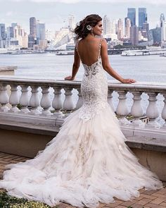 """Cannot take our eyes off this gorgeous #wedding dress! Double tap and tag your girls! / dress- Eve of Milady Fall 2015 /"""