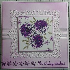 Here is the card for this Friday using a free set of stamps from Stampin Up.