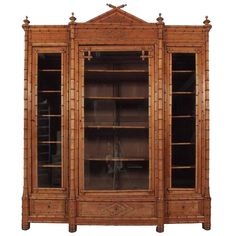 19th Century French Bamboo Bookcase   From a unique collection of antique and modern cabinets at https://www.1stdibs.com/furniture/storage-case-pieces/cabinets/