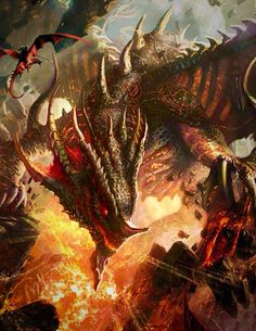 Omg that's must be the...best dragon that i seen and its fire with lava !!AWESOME! !!