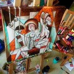 One more day&night and i will see if everything is in the best place as it can be 🎨🤔☺️ #cubisticladies #cubismo #cubism #artwork_in_studio #artworkinprogress #artstudio #youngart #painting #art #artstagram #artgallery #artmagazine #modernart #kunst #dnesmalujem #malba #umenie #umenienaslovensku #bratislavaartist #slovakiaart #womeninart #umenieba#contemporaryart #youngartist #picture #draint_artgallery #culturezone @lujmari @lujmari_life @draint_artgallery @artwork_in_studio @arts_help…