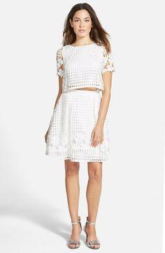 a. drea Laser Cut Two-Piece Dress | Nordstrom