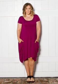 Stylish and Trendy Plus Size Dress | Celia Pocket Dress | Swak Designs Clothing