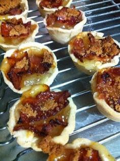 Holiday party~ Mini Bacon Apple Pies. YUM!!