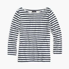 Shop the Striped Boatneck T-Shirt at JCrew.com and see the entire selection of Women's Tees.