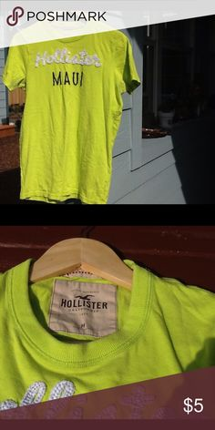 198a2d10 Hollister tshirt This is a size medium tshirt worn gently no tears or  stains Hollister Tops