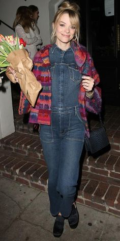 The Best Celebrity Maternity Street Style Looks - Jaime King, March 2015 from #InStyle
