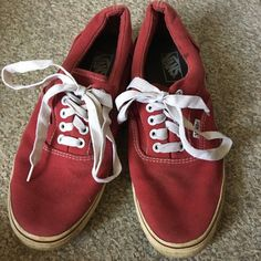 ea811ee20e Depop - The creative community s mobile marketplace. Maroon ColorWhite  LaceSneakersColourSoleVansThe OriginalsClassicStuff ...