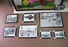Bộ tranh treo tường biểu tượng Hà Nội xưa đen trắng