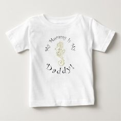 """""""My Mommy Is My Daddy"""" - Yellow-Green Seahorse T Shirt #transgender #LBGT"""