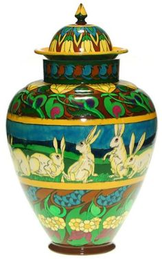 Pottery Painting, Pottery Art, Arts And Crafts Movement, Ginger Jars, Jar Lids, Exotic Flowers, Art Studios, American Art, All Art