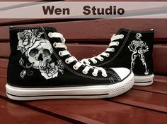 Skull Shoes Skull Customize Galaxy Custom Hand Painted Shoes,Local Brand Canvas Shoes,Painted Shoes Custom Shoes Painted Custom Shoes Gifts on Etsy, $46.00