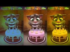 Learn Colors with My Talking Tom Colors for Kids Animation Education Car...