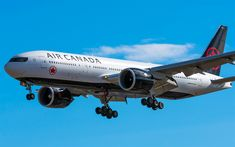 Download wallpapers Boeing 777, passenger plane, 777-200LR, plane in the sky, Canada, C-FYUJ 01, Air Canada