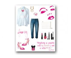 """""""Sunshine and a Little Pink"""" by rboowybe ❤ liked on Polyvore featuring MM6 Maison Margiela, MICHAEL Michael Kors, Lanvin, Madina Visconti di Modrone, Jordan Askill, OPI, Marc Jacobs, NARS Cosmetics, Smashbox and Rowdy Gentleman"""