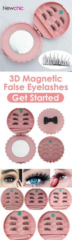 [Newchic Online Shopping] 50%OFF 3D Magnetic False Eyelashes
