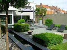 Afbeeldingsresultaat voor lange smalle stadstuin Small Backyard Patio, Backyard Patio Designs, Backyard Landscaping, English Garden Design, Small Garden Design, Porches, Family Garden, Outside Living, Small Gardens