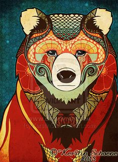 the bear by KerstinS.deviantart.com on @deviantART