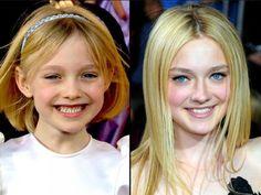 Dakota Fanning & Then and Now
