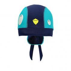 6e5b777778f Reversible Bucket Hat with Strings Multi Grey   Chapeau bob réversible à  cordons Souris Mini. Penguin Swim Cap with Headband   Bonnet de bain  pingouin avec ...
