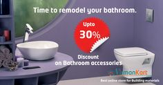 Enjoy special discounts on Plumbing & Sanitary products, it is time to remodel your bathroom.