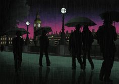 Rainy night in London