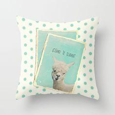Llama!!! throw pillows!