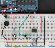 LM358 sound sensor, wired to an Arduino