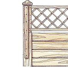 Adding trellis to the top of the fence makes the structure more appealing.