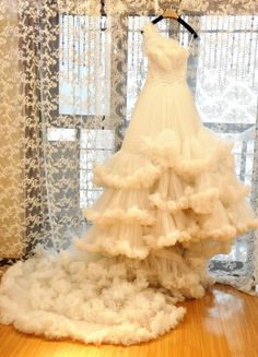 As the clouds wedding dress