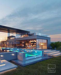 how to design Design Home App, Dream Home Design, Design Hotel, Luxury Homes Dream Houses, Luxury Modern House, Modern Mansion Interior, Big Modern Houses, Small Luxury Homes, Fancy Houses