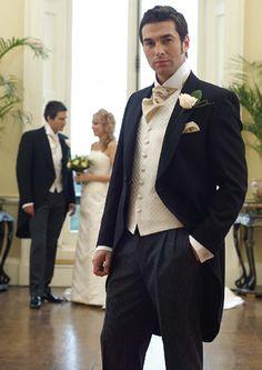 groomsmen in tails for formal wedding