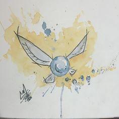 Watercolor Navi Tattoo Idea